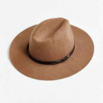 Urban Outfitters Light Brown Braided Trim Felt Panama Hat