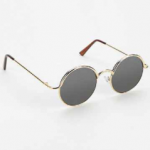 Urban Outfitters Gold Follow The Lines Round Sunglasses