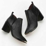 Urban Outfitters Black Report Toby Metal Toe Ankle Boot
