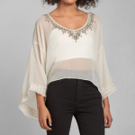 Abercrombie and Fitch Cream Kelly Peasant Top