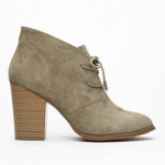 Forever 21 Grey Gray Faux Suede Lace-Up Booties