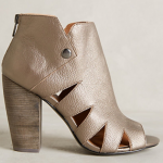 Anthropologie Kelsi Dagger Silver Balldance Shooties