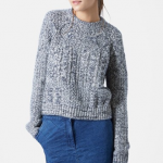 Nordstrom TopShop Grey Topshop Cable Slouchy Sweater