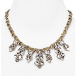 """Bloomingdales Lydell NYC Billy Clear Crystal Necklace, 15"""""""
