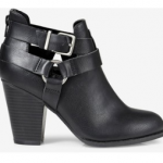 EXPRESS BLACK BUCKLE CUT OUT BOOTIE