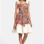 Nordstrom Tracy Reese Floral Print Fit and Flare Dress