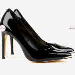 Ted Baker NEEVO Black Patent pointed court shoes