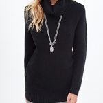Forever21 Black Waffle Knit Turtleneck Sweater