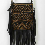 Urban Outfitters Black Ecote Jasmina Fringe Mini Crossbody Bag
