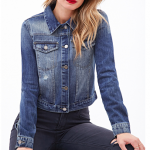 Forever 21 Blue Life in Progress Denim Jacket