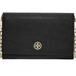 Tory Burch Black ROBINSON CHAIN WALLET