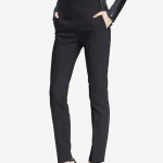 EXPRESS Black ULTIMATE DOUBLE WEAVE HIGH WAISTED ANKLE PANT