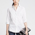 Banana Republic Fitted Non-Iron Basketweave Shirt