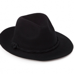 Forever 21 Black Twisted Band Wool Fedora