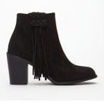 Forever 21 Black Fringed Faux Suede Booties