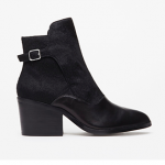 Forever 21 Buckled Ponyhair Leather Booties