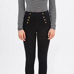 Forever 21 Black Sailor Skinny Jeans