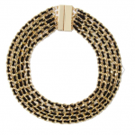 Nasty Gal Gold Black Know the Ropes Necklace