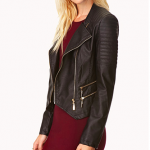 Forever 21 Black Total Babe Moto Jacket