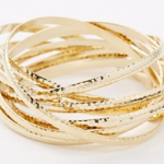 Asos Gold Nali Hammered Bangle Set