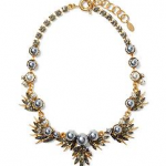 Piperlime ELIZABETH COLEI Isis Necklace Gold and Silver Grey