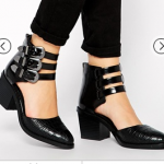 ASOS Black RAGAN Two Part Ankle Boots