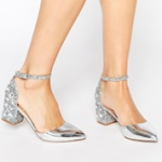 ASOS SHOOTING STAR Heels Silver
