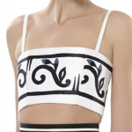 Alice and Olivia Rene Bustier Black White