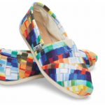 Toms MULTI SATIN PAINT CHIPS WOMEN'S CLASSICS
