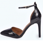 Boo Hoo EVIE POINTED ANKLE STRAP HEELS