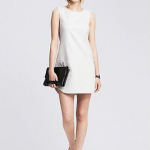 Banana Republic Textured White Cutout Shift