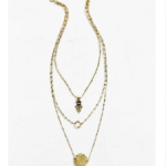 Urban Outfitters Gold Collective Charms Layer Necklace