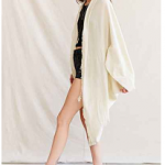 Urban Outfitters Urban Renewal Ivory Remade Textured Cocoon Cardigan