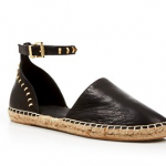 Bloomingdales Kenneth Cole Black Leather Espadrille Flats - Blaire