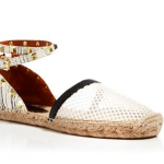 Bloomingdales Rebecca Minkoff Black Cream Espadrille Sandals - Gilles Mesh Studded