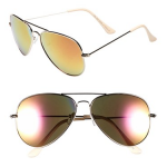 Nordstrom BP Yellow Mirrored Aviator 57mm Sunglasses