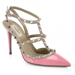 Saks Fifth Avenue Valentino Pink Patent Leather Rockstud Pumps