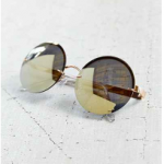 Urban Outfitters Golden Goddess Rimless Round Sunglasses
