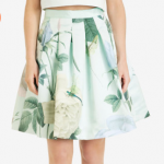 Ted Baker MAARI Pleated distinguishing rose skirt