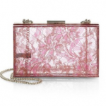 Love Moschino Lucite & Lace Box Clutch