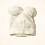 Hollister Cozy Pom Pom Beanie White Cream