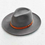 Urban Outfitters Alexa Panama Hat Charcoal Grey