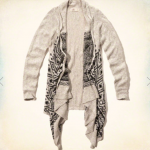 Hollister Grey Drapey Knit Pattern Cardigan