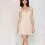 Nasty Gal Blush Pink All A Flutter Dress
