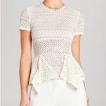 Bloomingdales Roll for Zoom Larger View BCBGMAXAZRIA Top - Victoria Mixed Knit Peplum