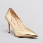 Bloomingdales Via Spiga Pointed Toe Pumps - Carola High Heel Blush Gold