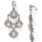 Bloomingdales Silver Carolee Chandelier Earrings