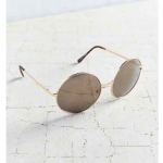 Urban Outfitters Gold Disco Metal Round Sunglasses