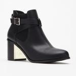 Forever 21 Black Buckled Chelsea Boots