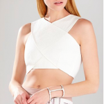 Bloomingdales BCBGMAXAZRIA Crop Top - Nyella Off White
